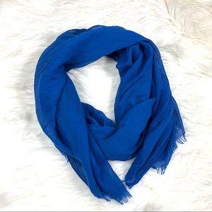 Express royal blue scarf large cute lightweight